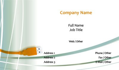 USB Cord Business Card Template